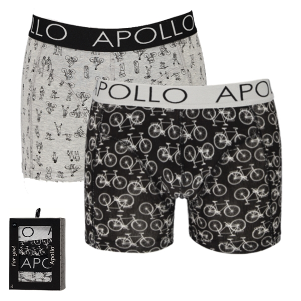 7cf340b0a8c Apollo Deluxe heren boxershorts 'Bicycle' 2-pack