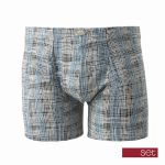 Set heren boxershort 'Matrix' grijs/jeans