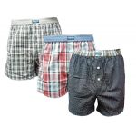 Eskimo heren boxershort 'Ruit' Trio Checks 3-Pack