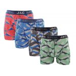 J&C Underwear heren boxershorts Promopakket Waves 4-pack