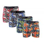J&C Underwear heren boxershorts promopakket 'Cross' 4-Pack