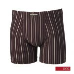 Set heren boxershort 'Multistreep' bordeaux