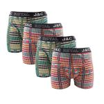 J&C Underwear heren boxershorts promopakket 'Coloured blocks' 4-pack