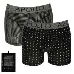 Apollo Deluxe heren boxershorts 'Dots/Triangle' 2-pack
