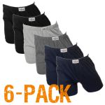 Fun2wear heren boxershort wijd 6-pack 'Uni' assorti