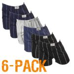 Fun2wear heren boxershort wijd 6-pack 'Streep' assorti