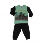 Fun2wear jongens pyjama 'Tractor power' zwart