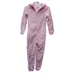 Cocodream meisjes onesie fleece 'Winter deer' roze