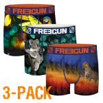 Freegun jongens boxershort microvezel Trio 'Colourful animals'