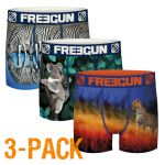 Freegun heren boxershort microvezel Trio 'Wild animals'