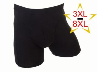Fun2wear heren boxershort 3XL-8XL Uni zwart