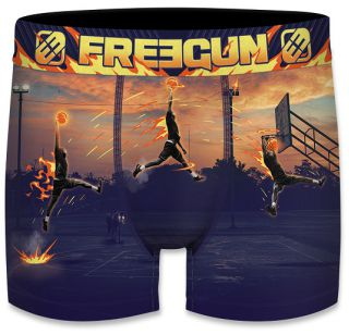Freegun heren boxershort microvezel 'Basketbal'