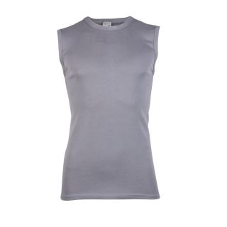 Beeren heren mouwloos shirt steel grey