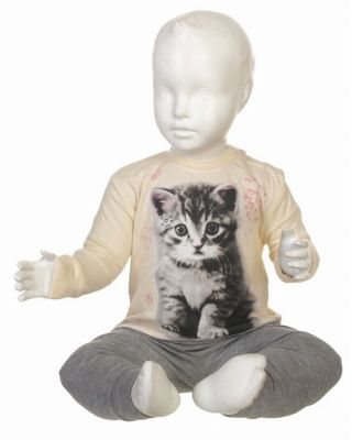 Fun2wear meisjes pyjama 'Kitten' ivoor