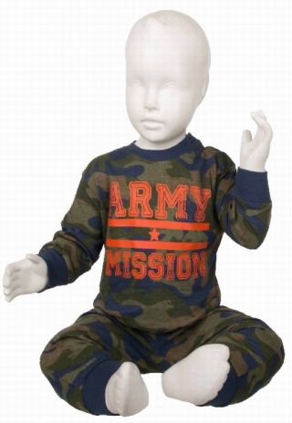 Fun2wear jongens pyjama 'Army mission' marine